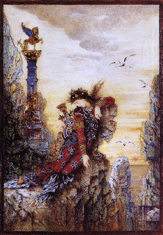 Gustave Moreau Sappho on the Rocks - Hand Painted Oil Painting