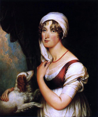John Trumbull Sarah Trumbull with a Spaniel - Hand Painted Oil Painting