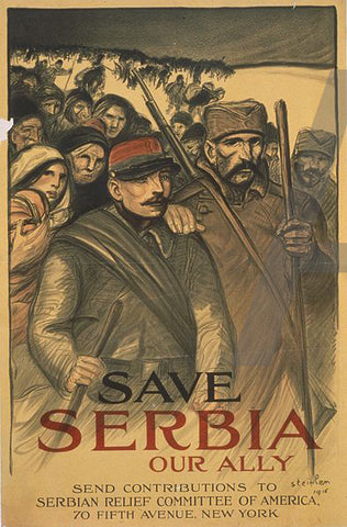 Theophile Alexandre Steinlen Save Serbia - Hand Painted Oil Painting