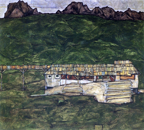 Egon Schiele Sawmill - Hand Painted Oil Painting