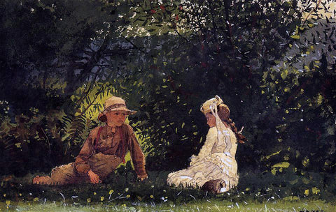 Winslow Homer Scene at Houghton Farm - Hand Painted Oil Painting