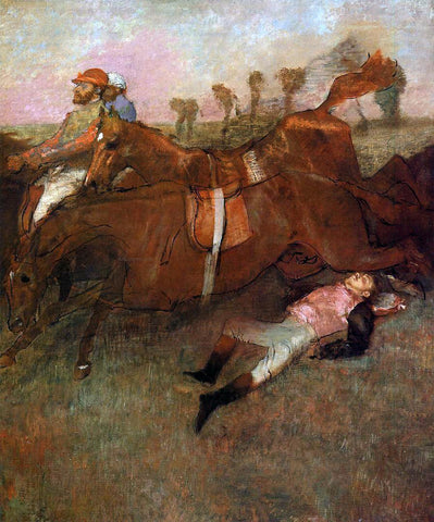 Edgar Degas Scene from the Steeplechase: the Fallen Jockey - Hand Painted Oil Painting