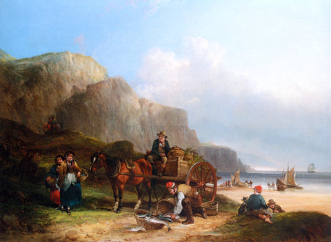 Senior William Shayer Scene in the Isle of Wight - Hand Painted Oil Painting