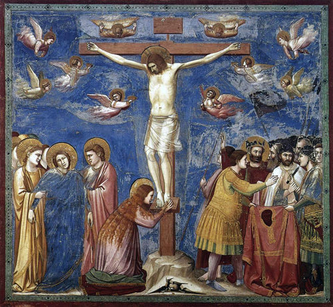 Giotto Di Bondone Scenes from the Life of Christ: 19. Crucifixion (Cappella Scrovegni (Arena Chapel), Padua) - Hand Painted Oil Painting