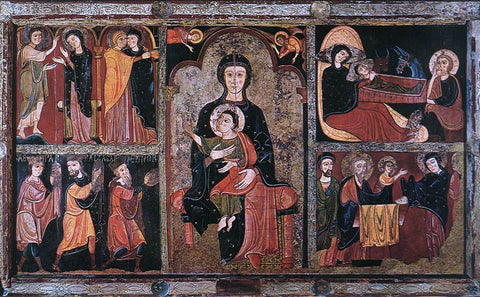 Unknown Catalan Painters Scenes from the Life of Jesus - Hand Painted Oil Painting