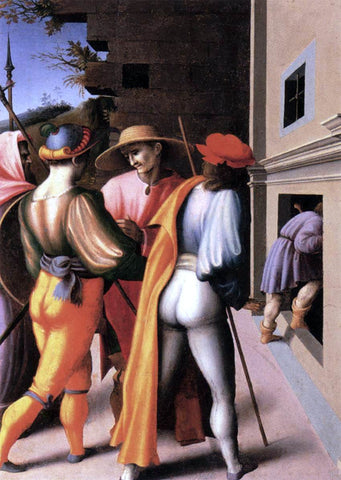 II Francesco Ubertini Bacchiacca Scenes from the Story of Joseph: The Arrest of His Brethren - Hand Painted Oil Painting
