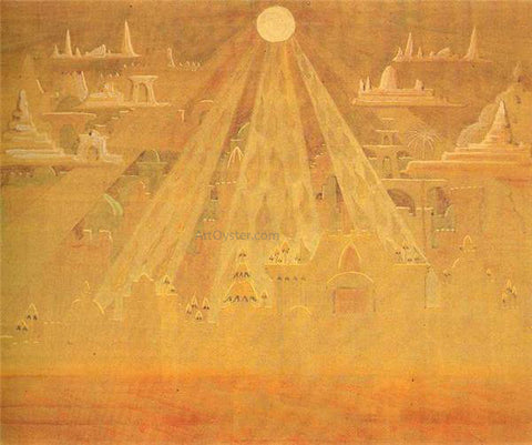 Mikalojus Ciurlionis Scherzo Sonata of the Pyramids - Hand Painted Oil Painting