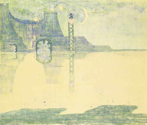 Mikalojus Ciurlionis Scherzo Sonata of the Serpent - Hand Painted Oil Painting