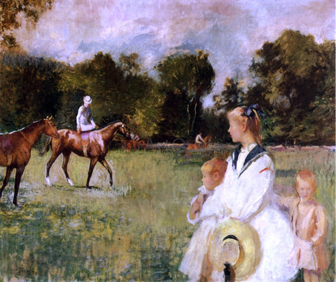 Edmund Tarbell Schooling the Horses - Hand Painted Oil Painting