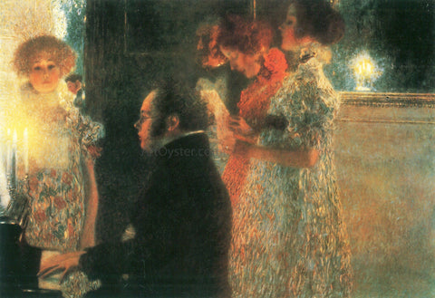 Gustav Klimt Schubert at the Piano II - Hand Painted Oil Painting