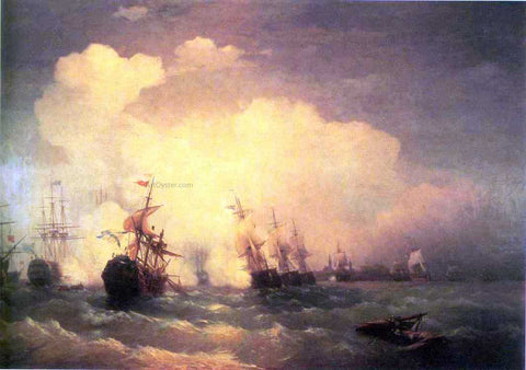 Ivan Constantinovich Aivazovsky Sea Buttle near Revel - Hand Painted Oil Painting