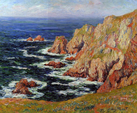 Henri Moret Sea Coast - Hand Painted Oil Painting