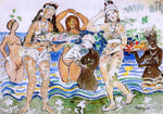Maurice Prendergast Sea Maidens - Hand Painted Oil Painting