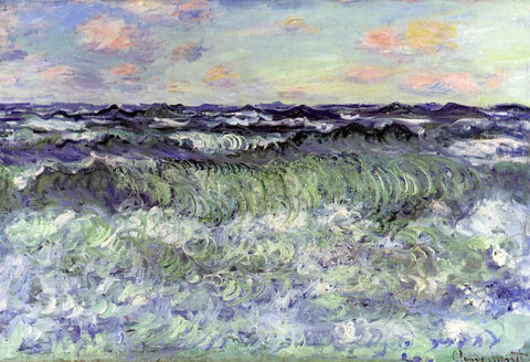 Claude Oscar Monet Sea Study - Hand Painted Oil Painting