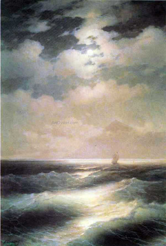 Ivan Constantinovich Aivazovsky Sea View by Moonlight - Hand Painted Oil Painting