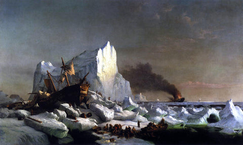 William Bradford Sealers Crushed by Icebergs - Hand Painted Oil Painting