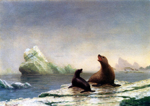 Albert Bierstadt Seals - Hand Painted Oil Painting