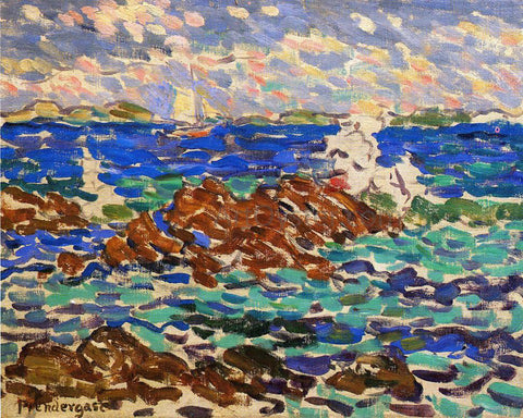 Maurice Prendergast Seascape - Hand Painted Oil Painting