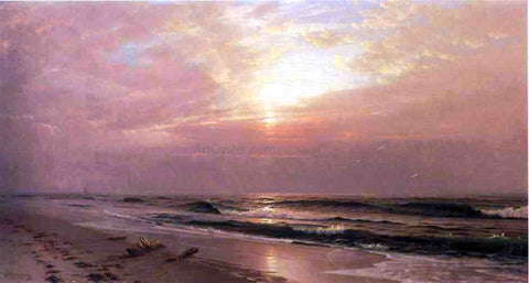 William Trost Richards Seascape at Sunset - Hand Painted Oil Painting