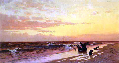 Francis A Silva Seascape at Sunset - Hand Painted Oil Painting