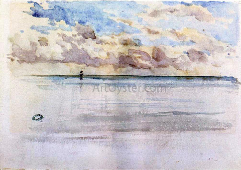 James McNeill Whistler Seascape, Dieppe - Hand Painted Oil Painting