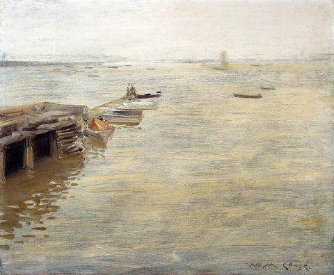 William Merritt Chase Seashore (also known as A Grey Day) - Hand Painted Oil Painting