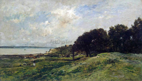 Charles Francois Daubigny Seashore at Villerville - Hand Painted Oil Painting