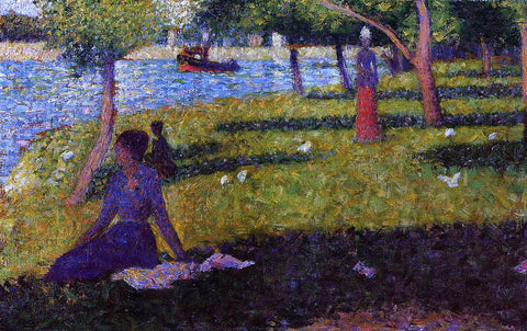 Georges Seurat Seated and Standing Woman - Hand Painted Oil Painting