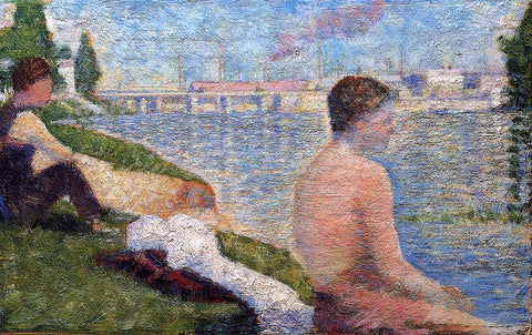 Georges Seurat Seated Bather - Hand Painted Oil Painting