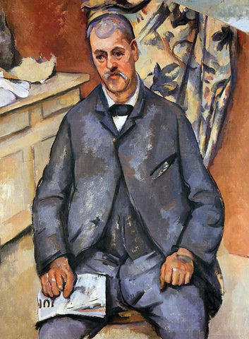 Paul Cezanne A Seated Man - Hand Painted Oil Painting