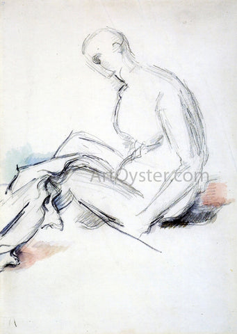 Paul Cezanne Seated Nude (also known as Ishmael) - Hand Painted Oil Painting