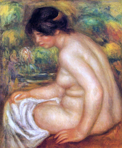 Pierre Auguste Renoir Seated Nude in Profile (also known as Gabrielle) - Hand Painted Oil Painting