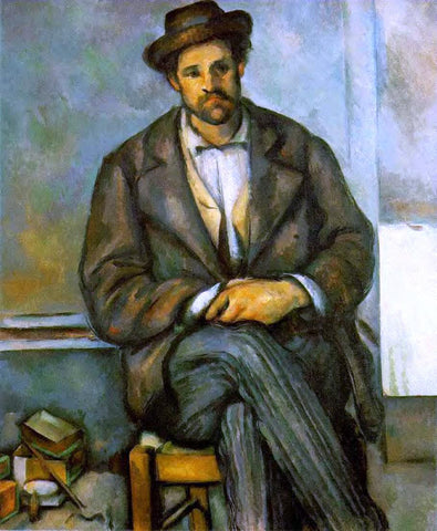 Paul Cezanne Seated Peasant - Hand Painted Oil Painting