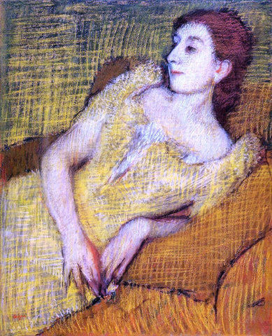 Edgar Degas Seated Woman - Hand Painted Oil Painting