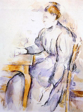 Paul Cezanne Seated Woman - Hand Painted Oil Painting