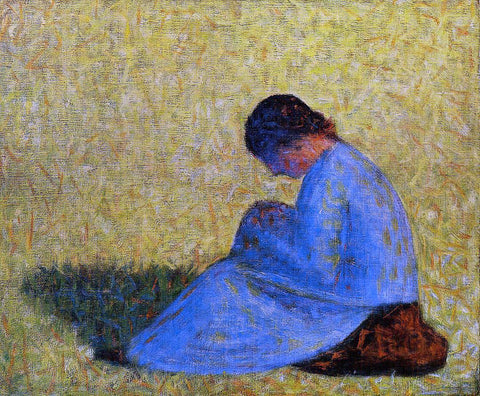 Georges Seurat Seated Woman - Hand Painted Oil Painting