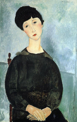 Amedeo Modigliani Seated Young Woman - Hand Painted Oil Painting