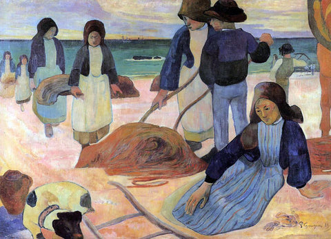 Paul Gauguin Seaweed Gatherers - Hand Painted Oil Painting