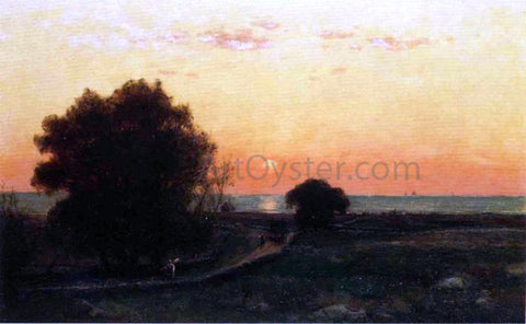 Thomas Worthington Whittredge Seaweed Harvest - Hand Painted Oil Painting