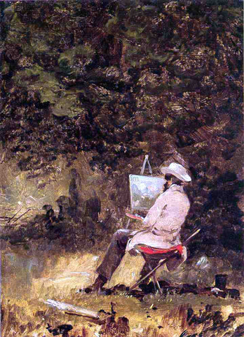 William Sidney Mount Self Portrait (also known as The Artist Sketching) - Hand Painted Oil Painting