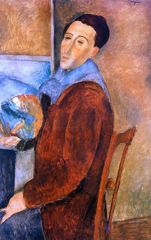 Amedeo Modigliani Self Portrait - Hand Painted Oil Painting