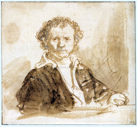 Rembrandt Van Rijn Self Portrait - Hand Painted Oil Painting