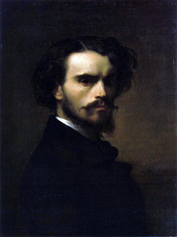 Alexandre Cabanel Self Portrait - Hand Painted Oil Painting