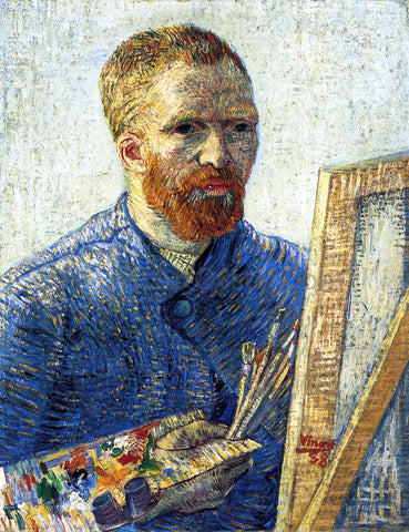 Vincent Van Gogh Self Portrait as a Painter (also known as Self Portrait in Front of the Easel) - Hand Painted Oil Painting
