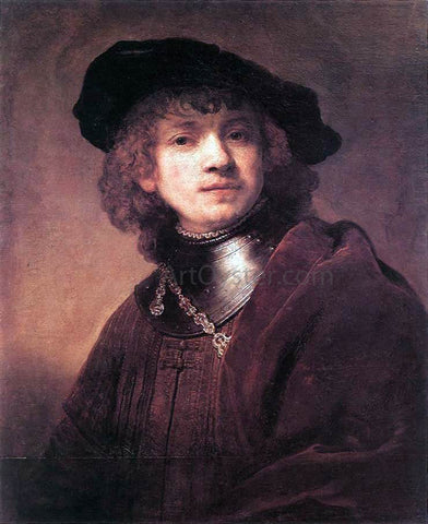 Rembrandt Van Rijn Self Portrait as a Young Man - Hand Painted Oil Painting