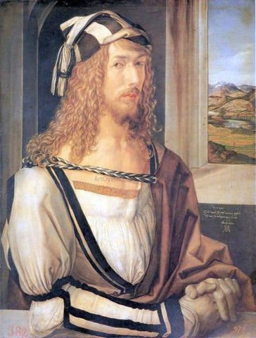 Albrecht Durer Self Portrait at 26 - Hand Painted Oil Painting
