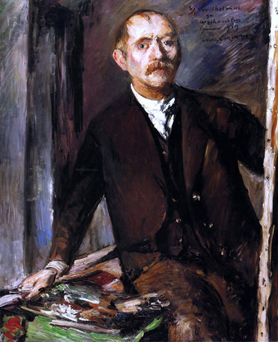 Lovis Corinth Self Portrait at the Easel - Hand Painted Oil Painting