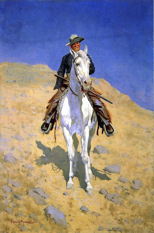 Frederic Remington Self Portrait - Hand Painted Oil Painting