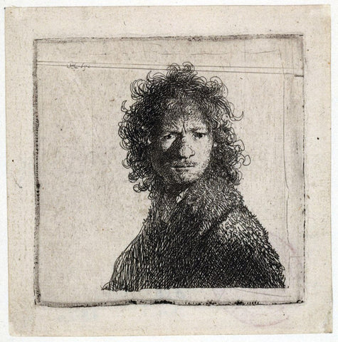 Rembrandt Van Rijn Self Portrait, Frowning - Hand Painted Oil Painting