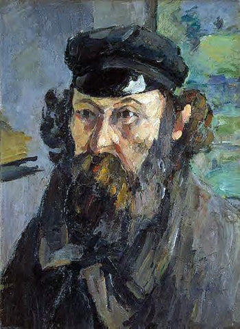 Paul Cezanne Self Portrait in a Casquette - Hand Painted Oil Painting